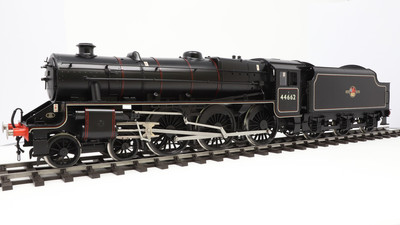 Black 5 type 1, long firebox,  split topfeed & dome sold but another in the workshop
