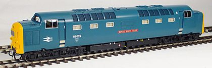 Class 55 production Deltic Blue