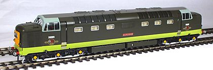 Class 55 production Deltic Green