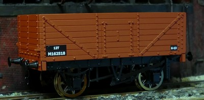 RCH 7 plank wagon BR bauxite available to order box of 4 only